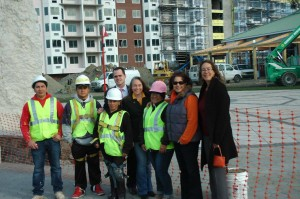 Daysi Briones owner of IQ Contracting Inc & Associates is a woman-owned construction business. Completing project at Harbor Square.