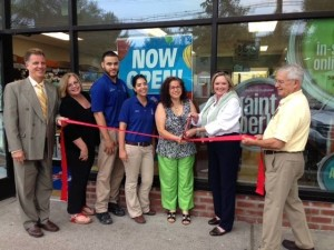 Ribbon Cutting ceremony at Sherwin Williams store