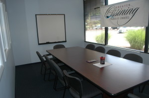 Conference Room at Chamber office, holds 12.