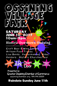 Ossining Village Fair is Saturday, June 10th