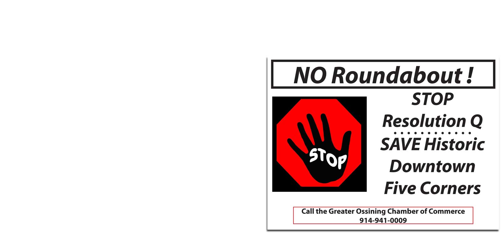 Ossining Roundabout Petition Sign Stop Resolution Q