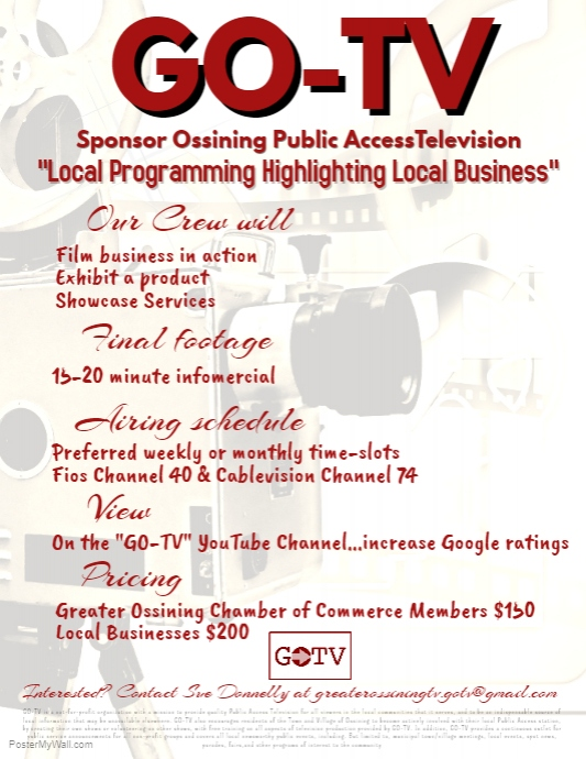 Get Your Business on GO-TV - Ossining Chamber of Commerce